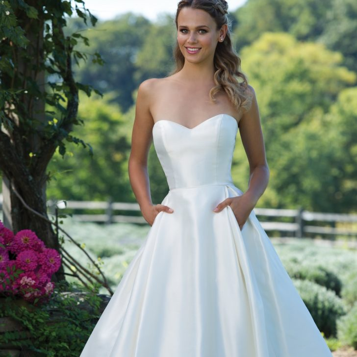 Full Mikado Ball Gown with Sweetheart Neckline and Keyhole Back f9fb4042dc0